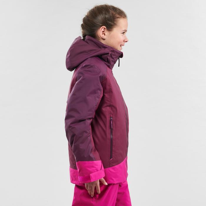 Casaco de Ski Quente e Impermeável 500 Criança Ameixa