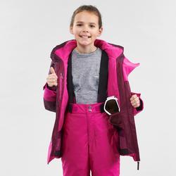 Ski jas voor kinderen waterdicht 500 winterjas paars