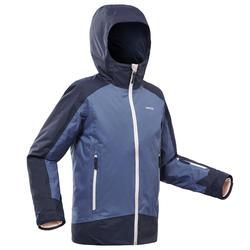 Winterjas voor kinderen ski jas 500 blauw waterdicht