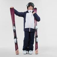 CHILDREN'S SKI JACKET 500 - WHITE AND BLUE