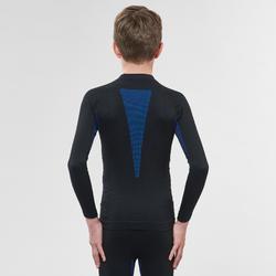 兒童滑雪底層上衣580 I-Soft - 黑色/藍色
