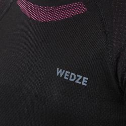 Thermoshirt voor skiën kinderen 580 I-Soft zwart/roze