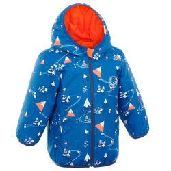 Casaco Quente e impermeável de Ski/Trenó Bebé reversível laranja