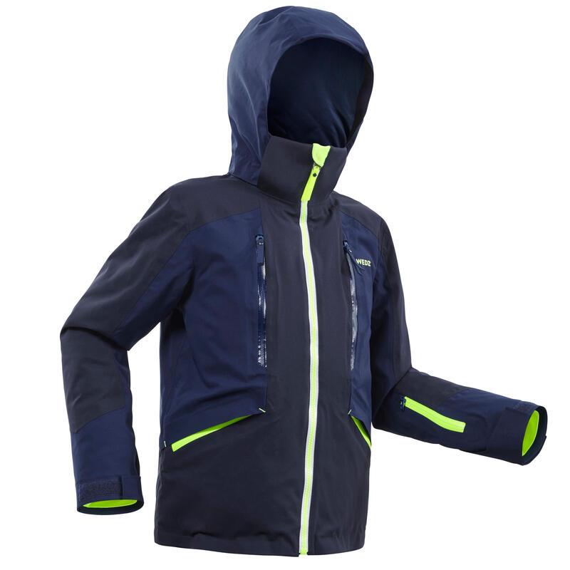 Children's Ski Jacket - Navy Blue and Yellow