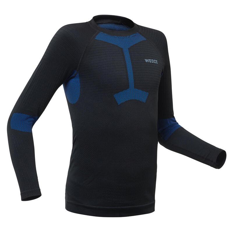 Dětské spodní lyžařské tričko 580 I-Soft černo-modré