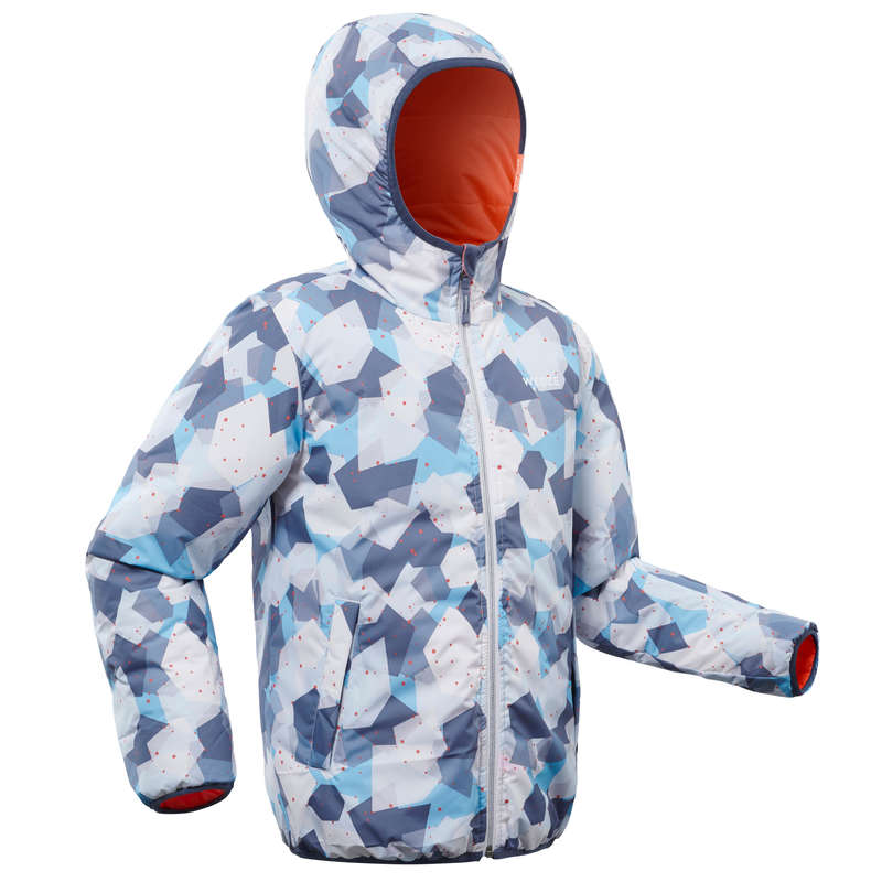 GIRL BEGINNER ON PIST SKIING CLOTHS Clothing - JR D-SKI JACKET W RVS 100 - BL WEDZE - Coats and Jackets