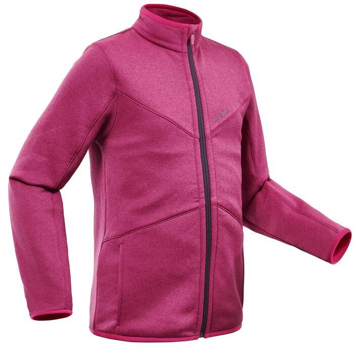 Midlayer voor skiën voor kinderen 900 roze