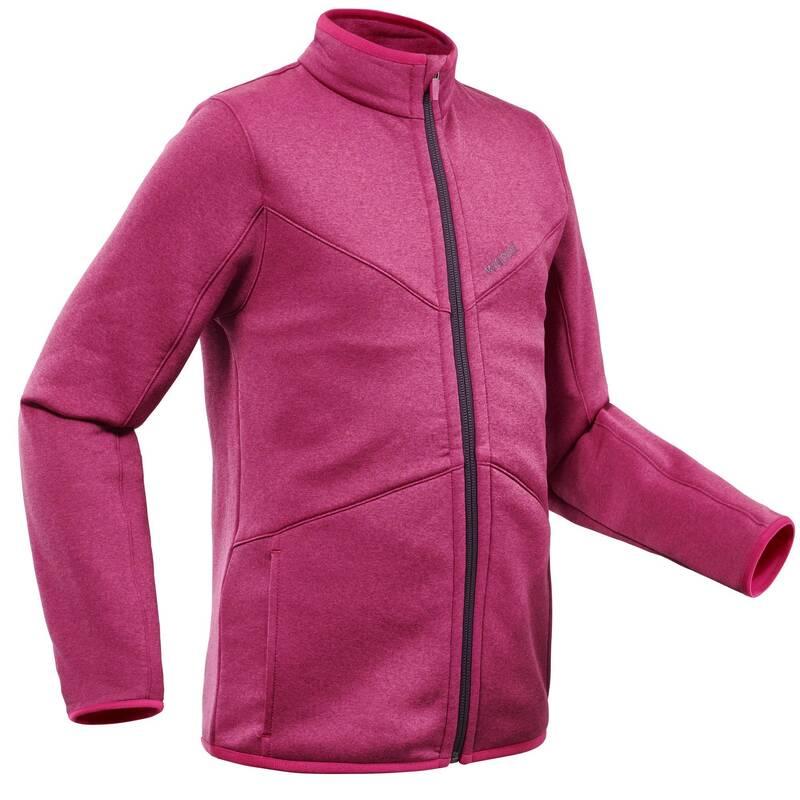 DÍVČÍ OBLEČENÍ NA LYŽOVÁNÍ (ZKUŠENÉ) Lyžování - DÍVČÍ SPODNÍ BUNDA 900 RŮŽOVÁ  WEDZE - Lyžařské oblečení a doplňky