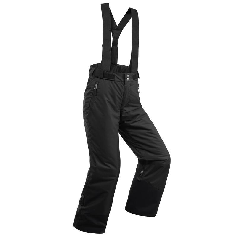 Warme en waterdichte skibroek voor kinderen PNF 500 zwart