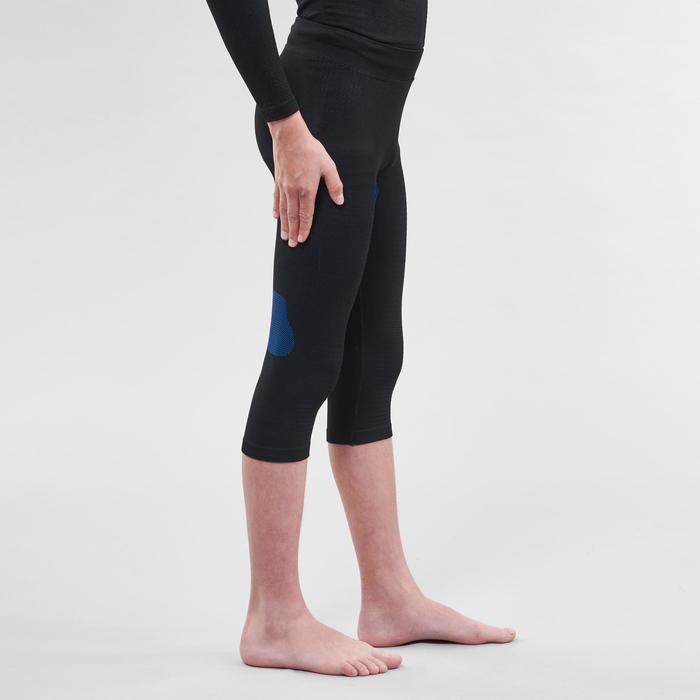 Thermobroek voor skiën voor kinderen 900 I-Soft zwart en blauw