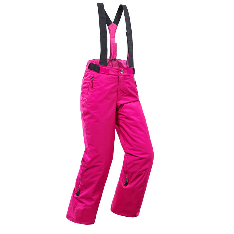 GIRL'S JACKETS OR PANTS REGULAR SKIERS Skiing - JR D-SKI TROUSERS PNF 500-PINK WEDZE - Ski Wear