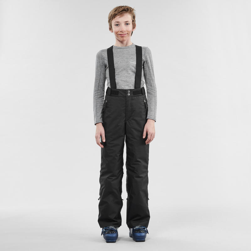 CHILDREN'S SKI PANTS PNF 500 - BLACK