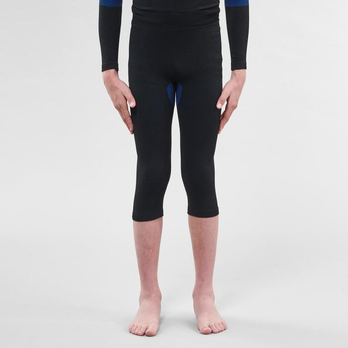 Kids' Skiing Base Layer Bottoms 900 I-Soft - Black and Blue