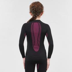 Sous-vêtement de ski enfant Haut 900 I-Soft Noir et Rose
