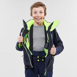 Skijacke Piste 900 Kinder marineblau/gelb