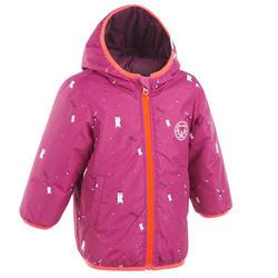 Omkeerbare winterjas voor skiën / sleeën peuters Warm paars