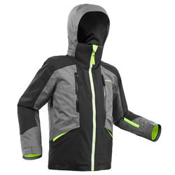 CHILDREN'S SKI JACKET 900 - GREY AND BLACK