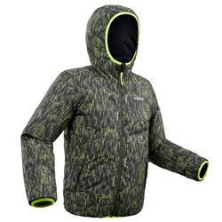 Skijacke warm wendbar 100 Kinder schwarz/gelb