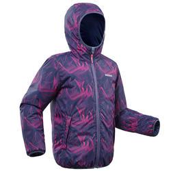Ski-jas voor kinderen Warm Reverse 100 blauw/roze