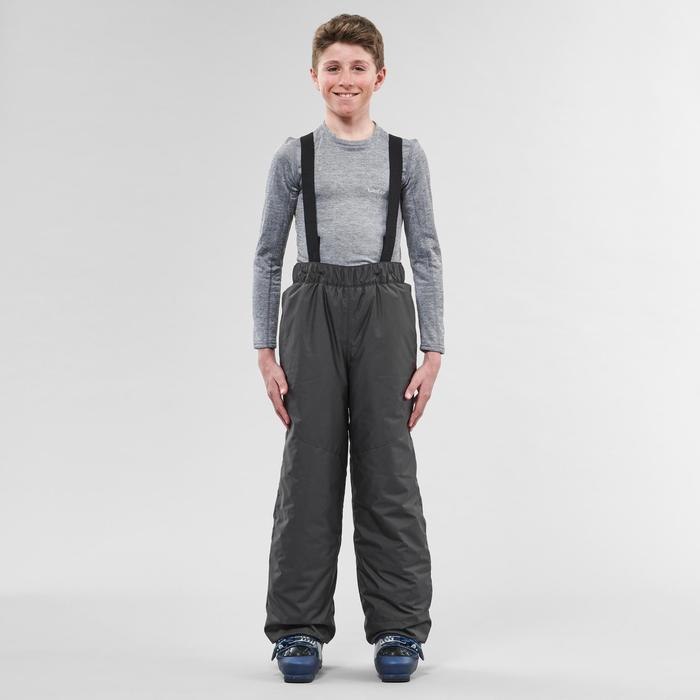 KIDS' SKI TROUSERS 100 - DARK GREY