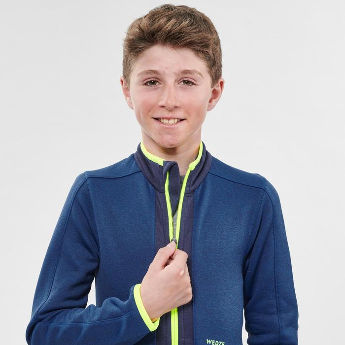 Midlayer voor skiën voor kinderen 900 blauw