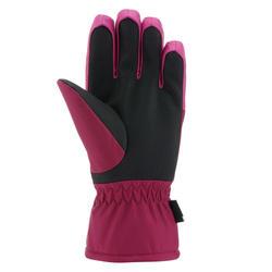 Kids' Ski Gloves 100 - Pink
