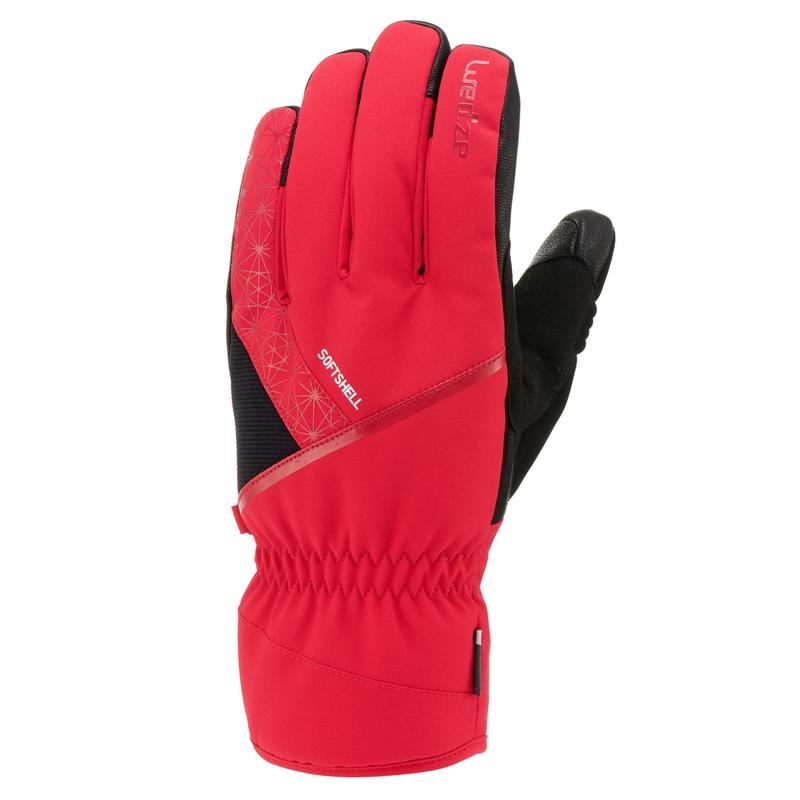 ADULTS' DOWNHILL SKIING GLOVES 500 - RED