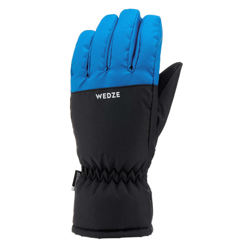 JUNIOR ON PISTE SKIING GLOVES Skiing - JR D-SKI GLOVE 100 - BLUE WEDZE - Ski Wear
