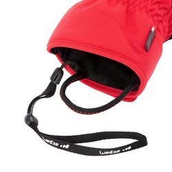 Skihandschoenen voor volwassenen 500 rood