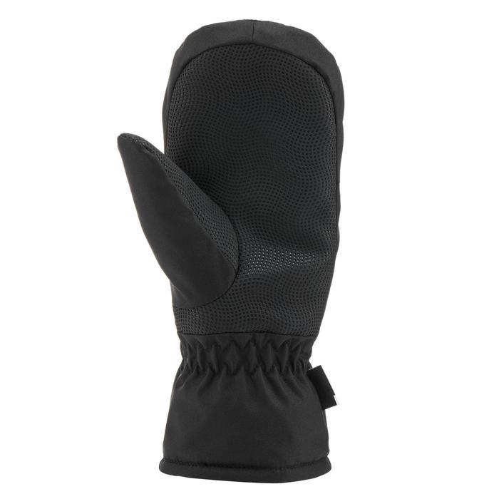 兒童滑雪連指手套100 - 黑色