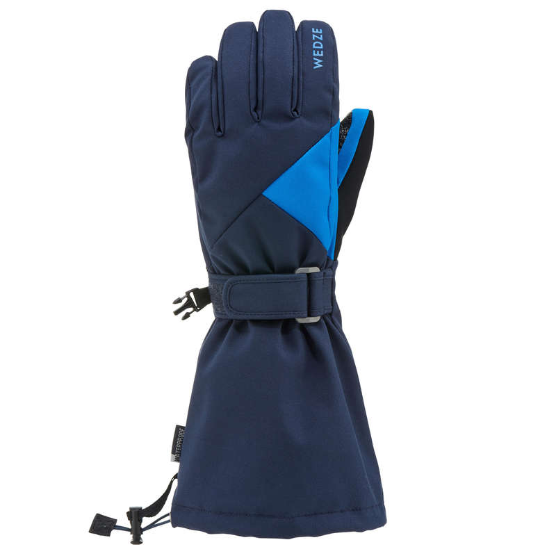 JUNIOR ON PISTE SKIING GLOVES Skiing - JR D-SKI GLOVE 500 - NAVY WEDZE - Ski Wear