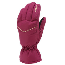 ADULT SKI GLOVES 100 - PURPLE