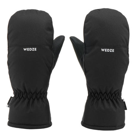 CHILDREN'S SKI MITTENS 100 - BLACK