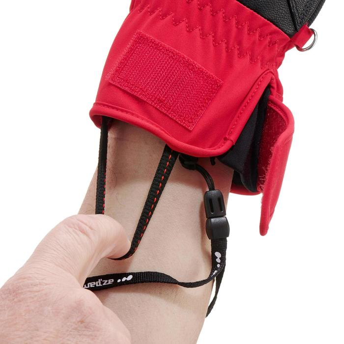 GANTS DE SKI DE PISTE ADULTE 500 ROUGES