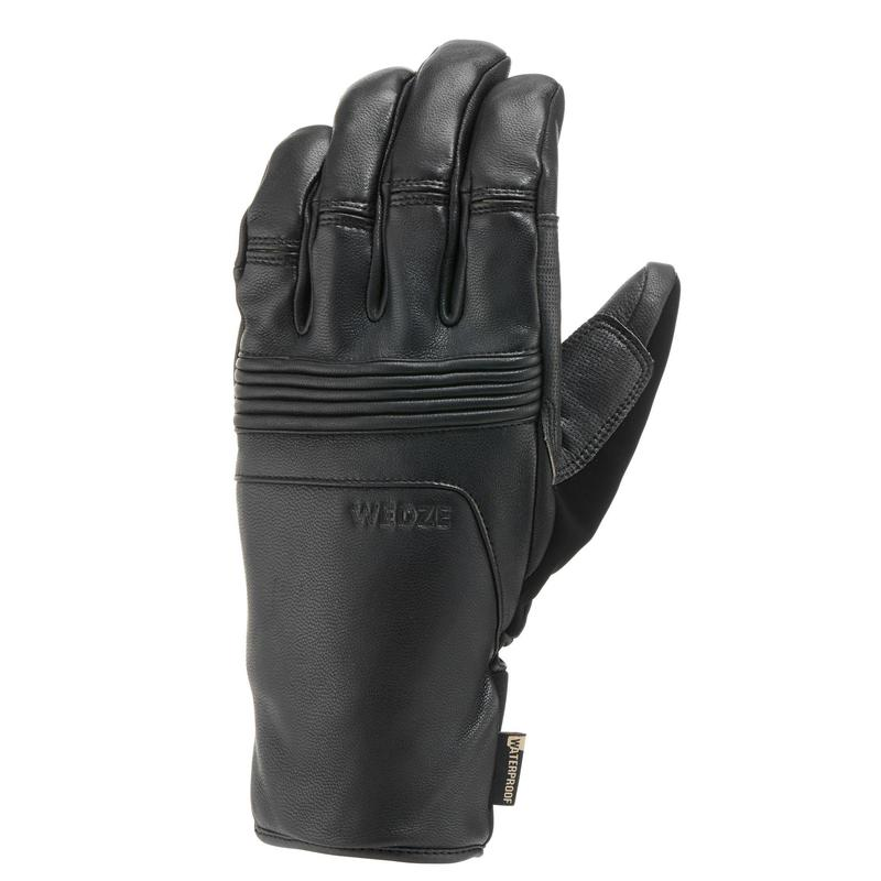 Adult Downhill Ski Gloves - Black