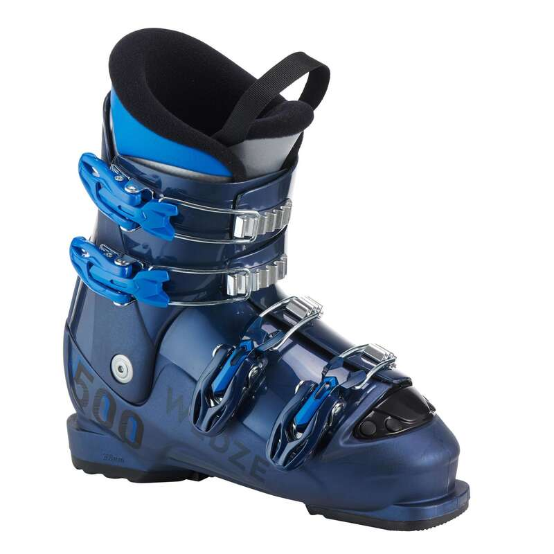 CHILDREN ON PISTE SKIING EQUIPMENT Skiing - JUNIOR D-SKI BOOT 500 - BLUE WEDZE - Ski Equipment