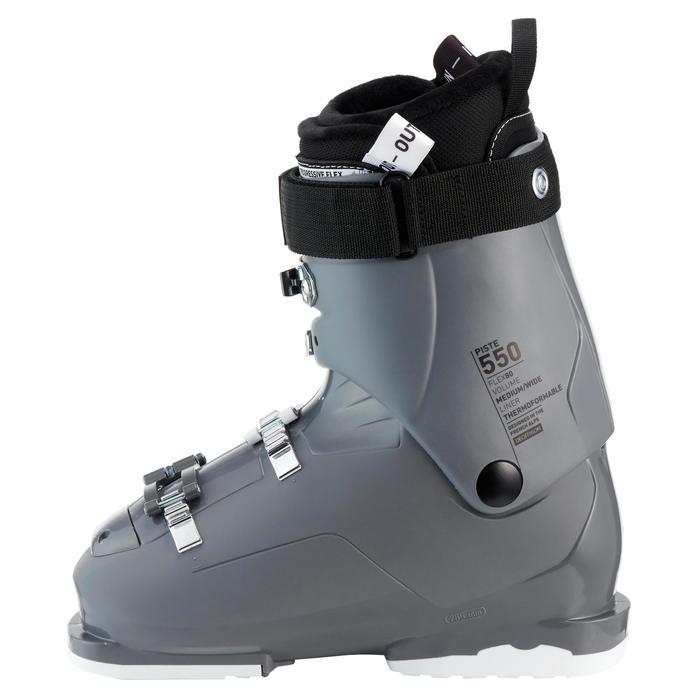Skischoenen voor dames pisteskiën Evofit 550 grijs