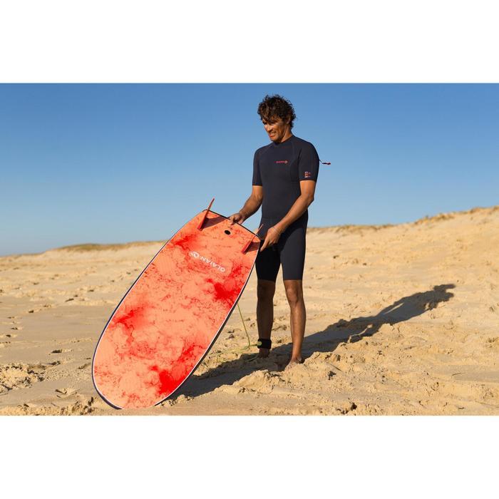 Tabla Surf Espuma Shortboard Olaian 900 5,4' Adulto Azul Naranja Quillas