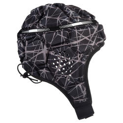 Casco Rugby Offload R500 adulto negro y gris