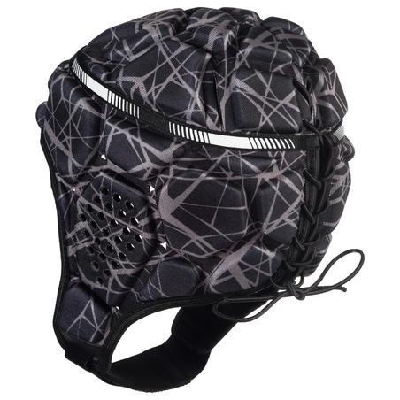500 Adult Rugby Scrum Cap - Black/Grey
