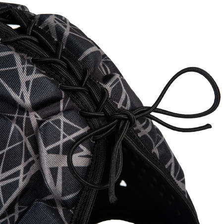 خوذة للركبي R500 للكبار - لون أسود/ رمادي
