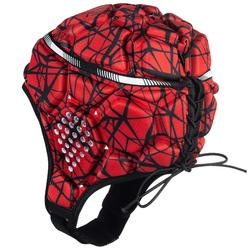 Casque rugby 500 adulte rouge/noir