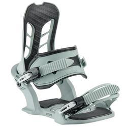 男款雪道上/雪道外單板滑雪板固定器All Road 500 - 綠色灰色與黑色