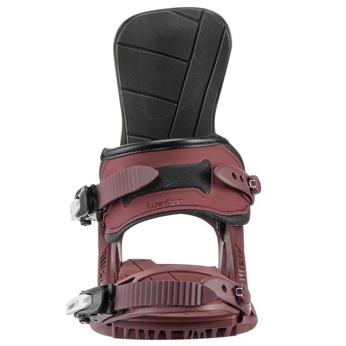 男/女款花式單板滑雪板固定器Endzone 500酒紅色