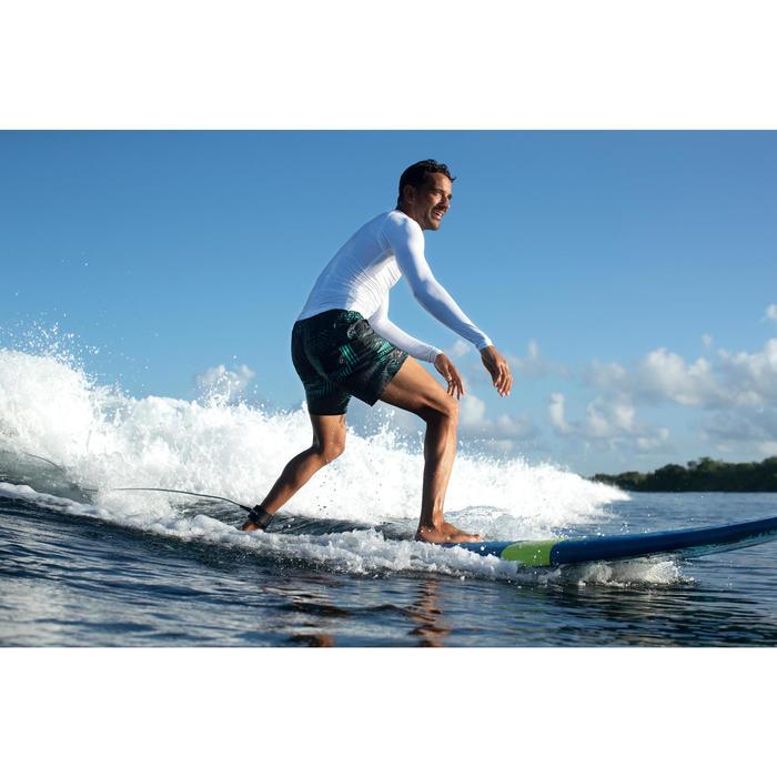 """Bañador Corto Surf Olaian 100 Palme Hombre Negro Menta 16"""""""