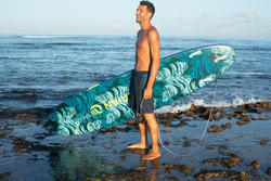 Short long surf 100 nuages bleu