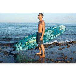 Lange boardshort voor surfen 100 Cloud blauw