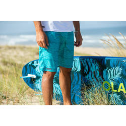 "Bañador Largo Surf Olaian 100 Fake Stamp Hombre Turquesa 20"""