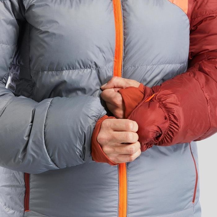 Slaapzak jas Sleeping Suit TREK900 3° dons rood/grijs