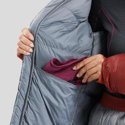 Sac de couchage veste Sleeping Suit TREK900 3° plume rouge gris